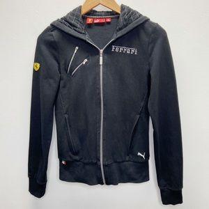 Scuderia Ferrari Puma Black Zip Up Sweatshirt